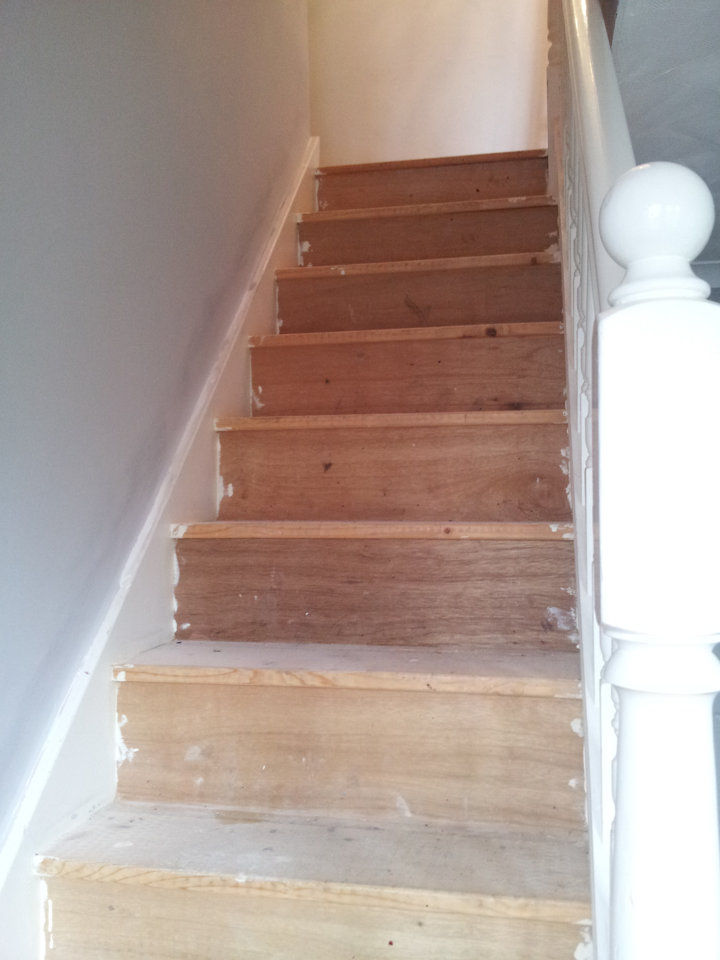 Sanded Staircase Prior to Painting
