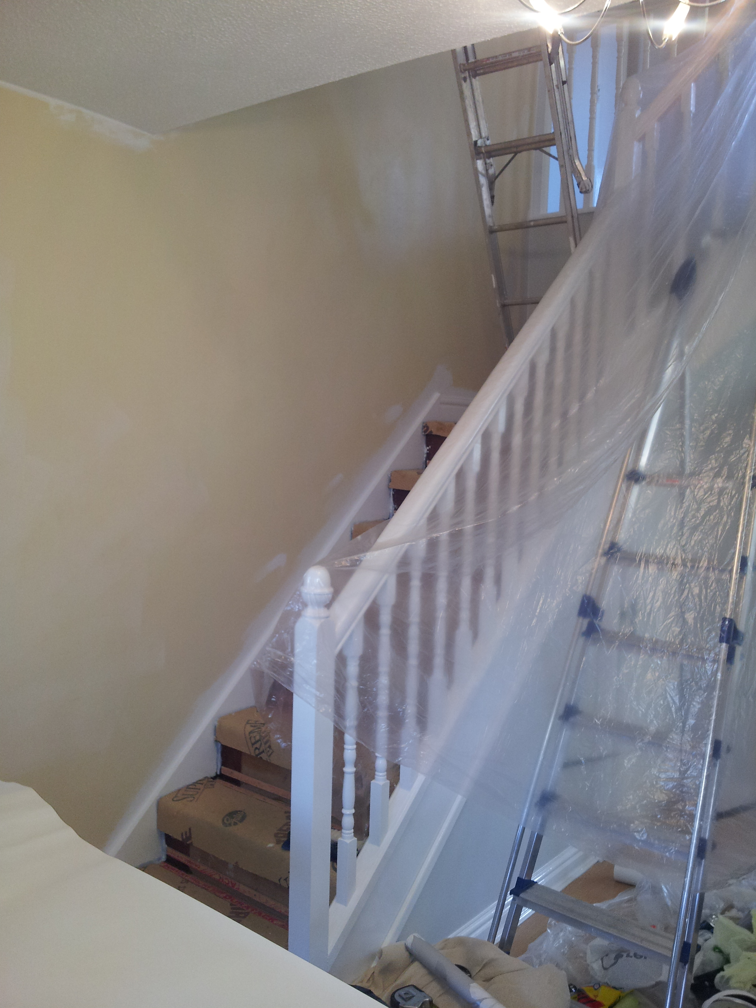 Stairs Wall Stripped